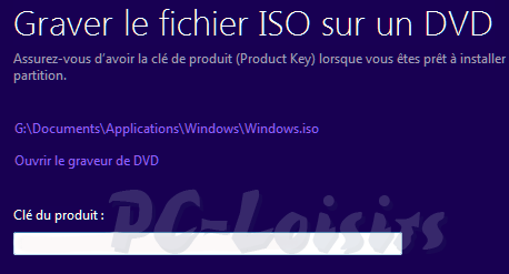 Graver l'image windows8.iso
